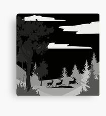Monochrome Scene  Canvas Print