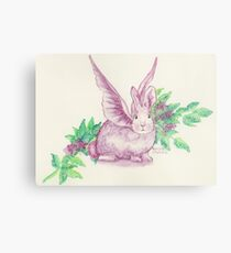 Winged Runaway Bunny Metal Print