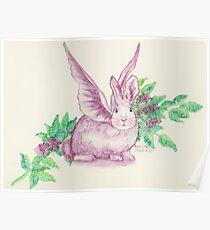 Winged Runaway Bunny Poster