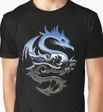 Metal Blue Dragon Graphic T-Shirt