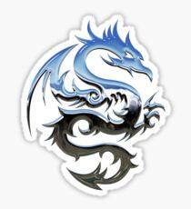 Metal Blue Dragon Sticker