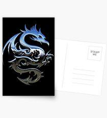 Metal Blue Dragon Postcards