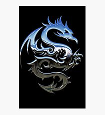 Metal Blue Dragon Photographic Print
