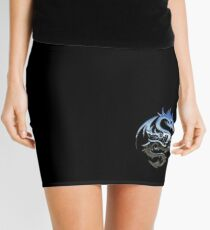 Metal Blue Dragon Mini Skirt