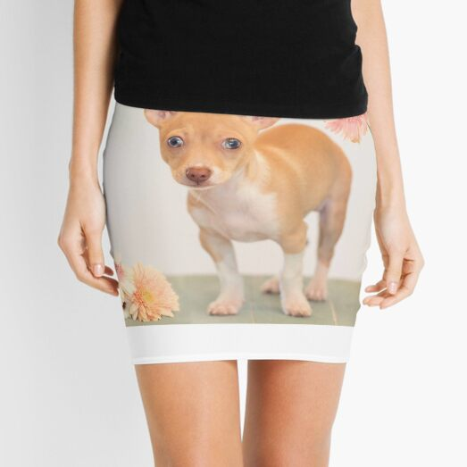 Chihuahua Puppy with Daisies Mini Skirt