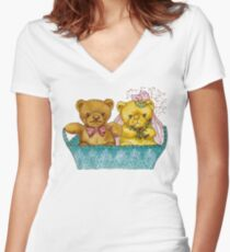 A Beary Nice Wedding Women's Fitted V-Neck T-Shirt