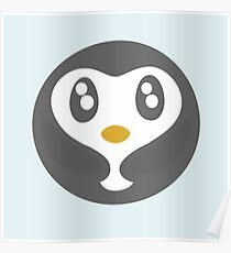 Cute Baby Penguin Ball Poster