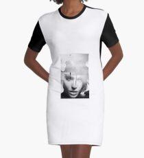 Black & White beautiful woman Graphic T-Shirt Dress