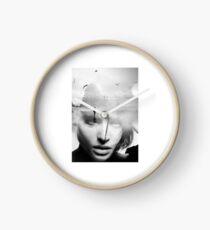 Black & White beautiful woman Clock