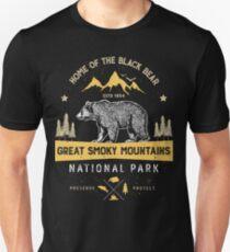 Great Smoky Mountains National Park Shirt Bear Vintage Gift Ideas T-shirt Slim Fit T-Shirt