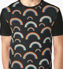 Pastel rainbows - oldschool seamless pattern Graphic T-Shirt