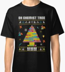 Oh Chemist Tree Merry Christmas Ugly Sweater Chemistry Tee Classic T-Shirt