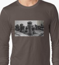 Chess Game in Black and White T-Shirt