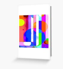 Re-Created Intersection VIII by Robert S. Lee Greeting Card