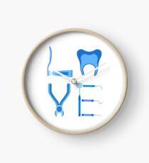 Dentistry Love Proud Dentist Funny Dental Assistant Gift  Clock