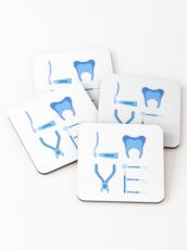 Dentistry Love Proud Dentist Funny Dental Assistant Gift  Coasters