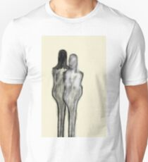 """etching 51 - walk with me"" Apple Pencil drawing Unisex T-Shirt"