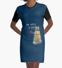 An Apple a Day Keeps the Doctor Away Graphic T-Shirt Dress