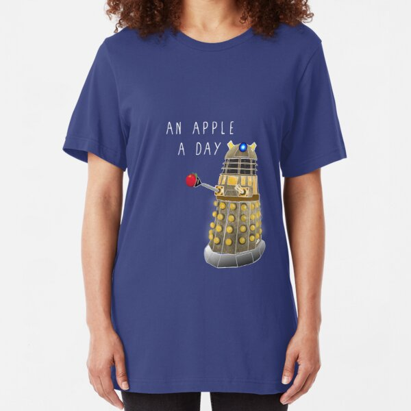 An Apple a Day Keeps the Doctor Away Slim Fit T-Shirt