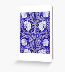 White Blue Tulips Floral Victorian Greeting Card