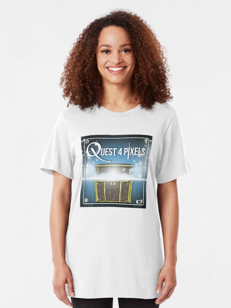Alternate view of Quest 4 Pixels Classic Slim Fit T-Shirt