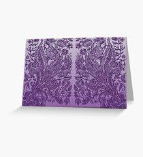 Purple Ornaments Greeting Card