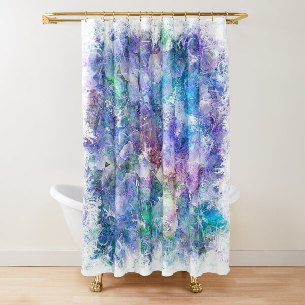 Crystal Frost 1 Shower Curtain