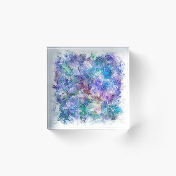 Crystal Frost 1 Acrylic Block