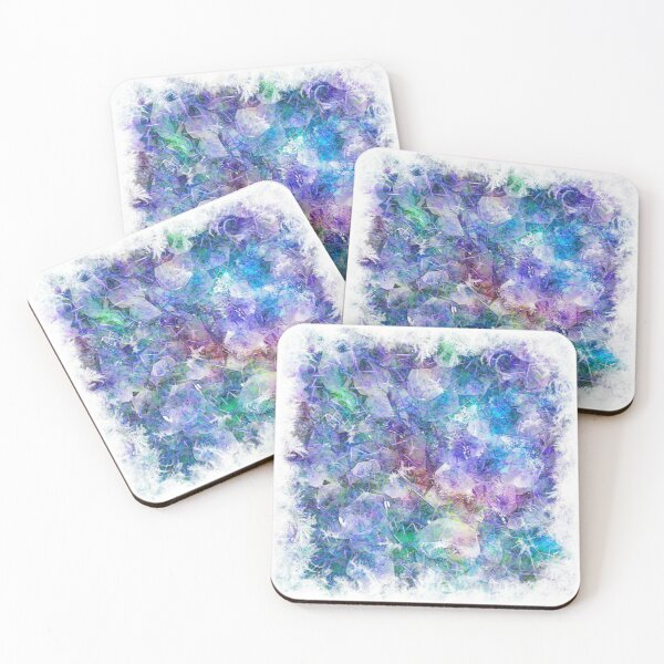 Crystal Frost 1 Coasters (Set of 4)