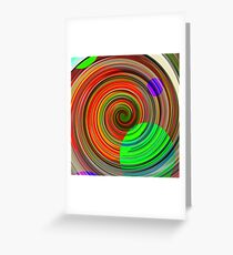 Re-Created Spiral Painting IV by Robert S. Lee Greeting Card
