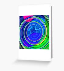 Re-Created Spiral Painting III by Robert S. Lee Greeting Card