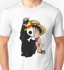Monkey D. Luffy with Flag Unisex T-Shirt