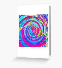 Re-Created Spiral Painting V by Robert S. Lee Greeting Card