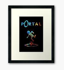 Portal minimalistischer Nebel Design Gerahmter Kunstdruck