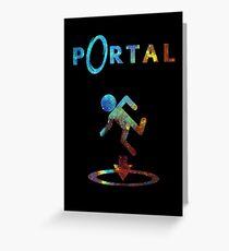 Portal Minimalist Nebula Design Greeting Card