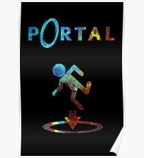 Portal Minimalist Nebula Design Poster