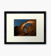 Double Arch in Arches National Park  Framed Print