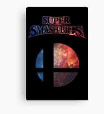 Smash bros Minimalist Nebula Design Canvas Print