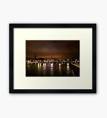 Stockholm at Night (Sweden) Framed Print