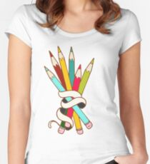 Colored Pencils Bouquet Women's Fitted Scoop T-Shirt