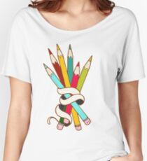 Colored Pencils Bouquet Women's Relaxed Fit T-Shirt