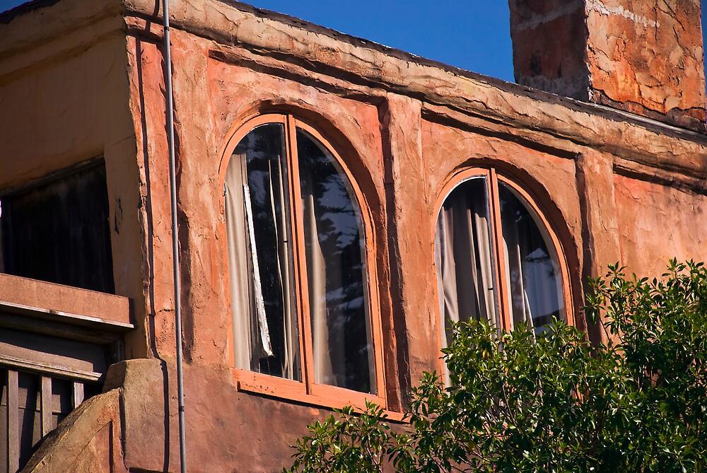 Windows in an Adobe Wall by MarkEmmerson