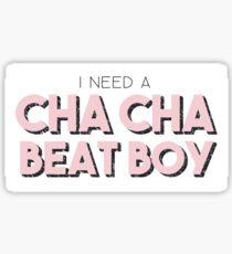Cha Cha Beat Boy Sticker