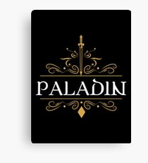 Paladin Tank - Paladin WoW Dungeons and Dragons Inspired D&D DnD Canvas Print