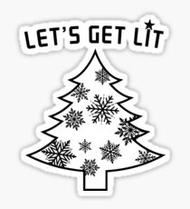 Let's Get Lit  | Christmas Tree  | Holiday Lights Sticker