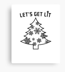 Let's Get Lit  | Christmas Tree  | Holiday Lights Canvas Print