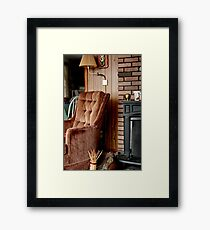 Comfy Cabin Chair Framed Print