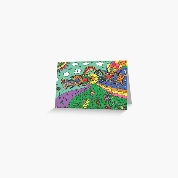 Graphic image with woodstock word Greeting Card