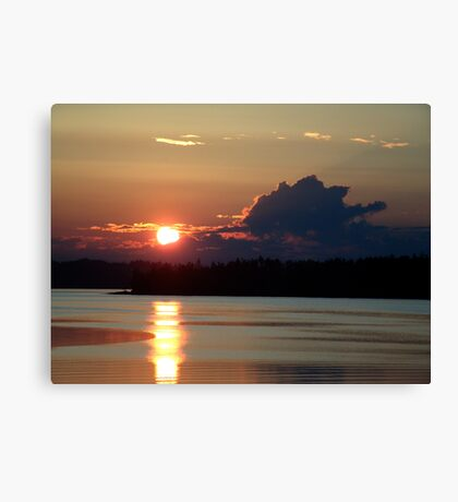 Early Summer Sunset Canvas Print