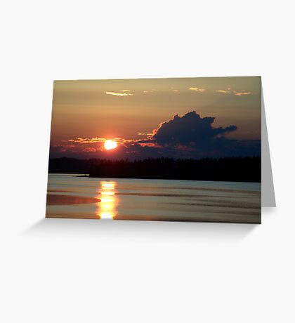 Early Summer Sunset Greeting Card